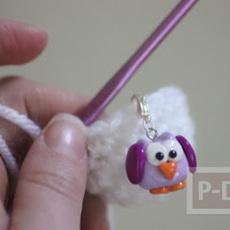 พวงกุญแจนกเพนกวิ้น ปั้นจากแป้งโดว์