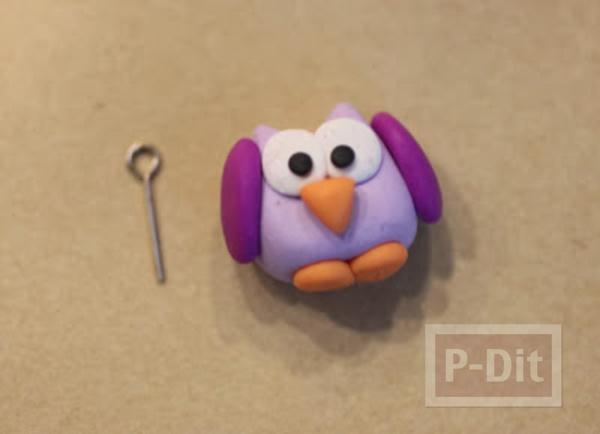 รูป 6 พวงกุญแจนกเพนกวิ้น ปั้นจากแป้งโดว์