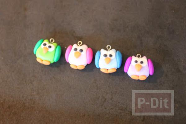รูป 7 พวงกุญแจนกเพนกวิ้น ปั้นจากแป้งโดว์