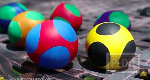 ลูกบอลนินจา ทำจากลูกโป่ง ใส่แป้ง