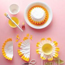 สอนทำดอกไม้ จากถ้วยกระดาษ คัพเค้ก