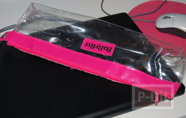 รูป 2 สร้อยข้อมือ ทำจากกระเป๋าพลาสติก สีสด