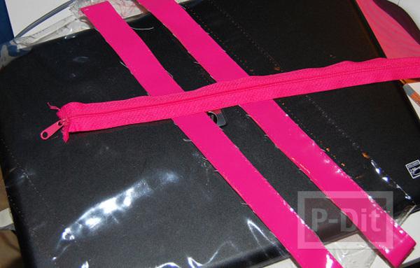 รูป 3 สร้อยข้อมือ ทำจากกระเป๋าพลาสติก สีสด