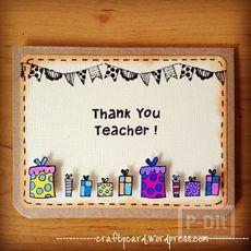 การ์ดวันครู น่ารักๆ ประดับกล่องของขวัญเล็กๆ