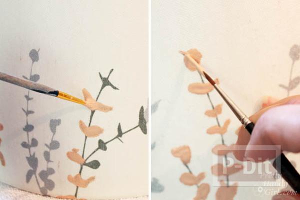 รูป 4 เปลี่ยนสีโคมไฟ ให้มีสีสัน สวยงาม