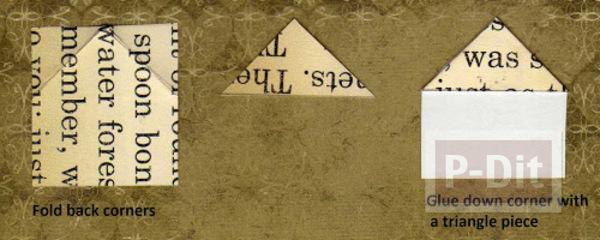 รูป 2 ประดิษฐ์ที่คั่นหนังสือ จากกระดาษนังสือพิมพ์