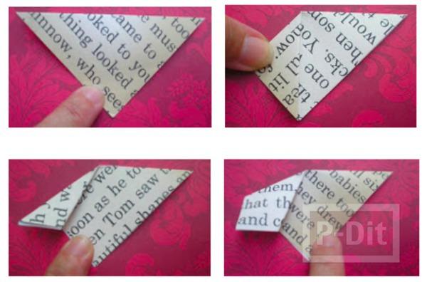 รูป 3 ประดิษฐ์ที่คั่นหนังสือ จากกระดาษนังสือพิมพ์