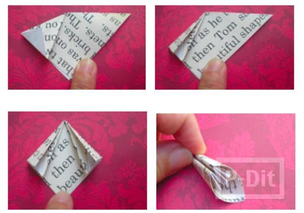 รูป 4 ประดิษฐ์ที่คั่นหนังสือ จากกระดาษนังสือพิมพ์