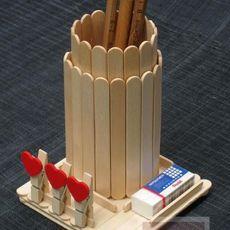 สอนทำที่ใส่ดินสอ จากไม้ไอติม
