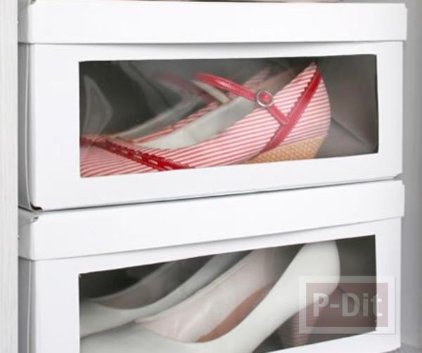 รูป 1 กล่องใส่รองเท้า ทำจากกล่องรองเท้าเก่าๆ