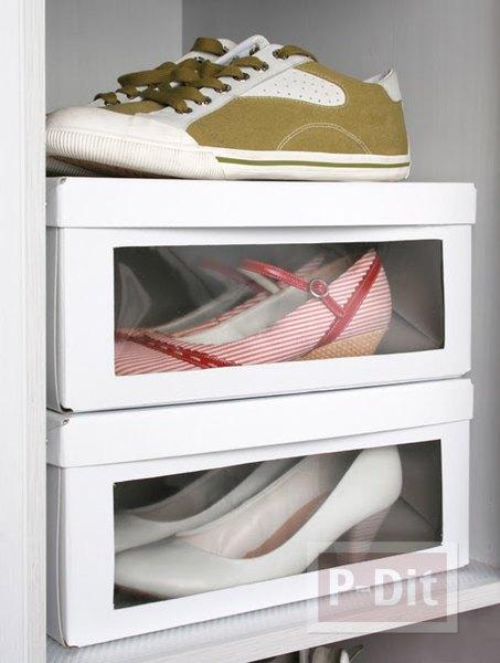 รูป 3 กล่องใส่รองเท้า ทำจากกล่องรองเท้าเก่าๆ