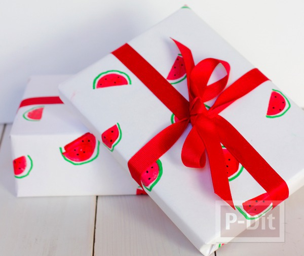 รูป 1 กระดาษห่อของขวัญ ลายแตงโม น่ารักๆ