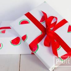 กระดาษห่อของขวัญ ลายแตงโม น่ารักๆ