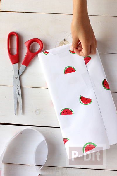 รูป 5 กระดาษห่อของขวัญ ลายแตงโม น่ารักๆ