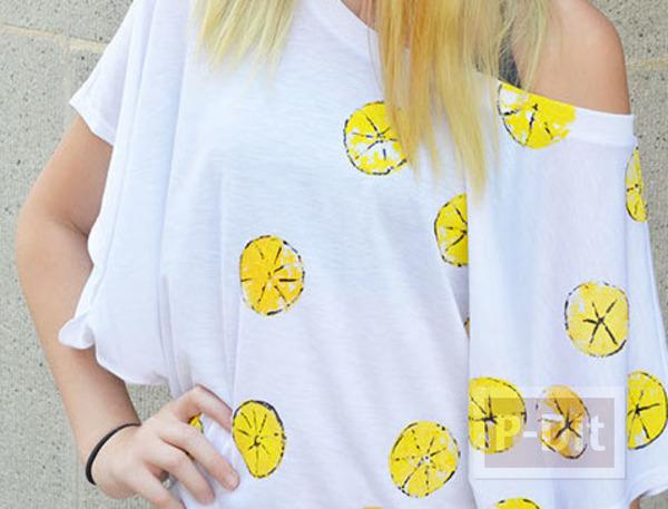 เสื้อยืดลายสวย ทำลายจากมะนาว (Lemon)