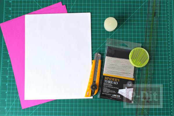 รูป 2 สอนทำสมุดโน๊ต จากกระดาษ A4