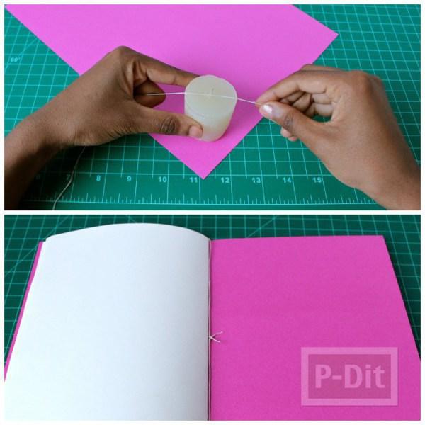 รูป 3 สอนทำสมุดโน๊ต จากกระดาษ A4