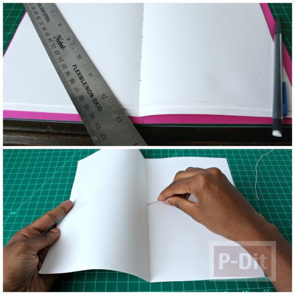 รูป 5 สอนทำสมุดโน๊ต จากกระดาษ A4