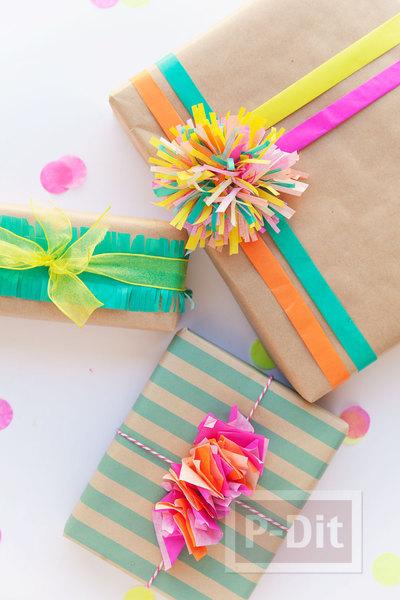 ห่อกล่องของขวัญสวยๆ ด้วยกระดาษสีสดใส