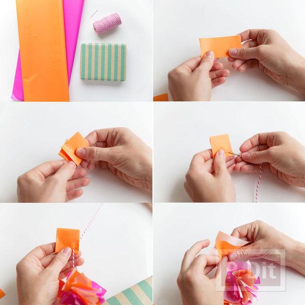 รูป 2 ห่อกล่องของขวัญสวยๆ ด้วยกระดาษสีสดใส