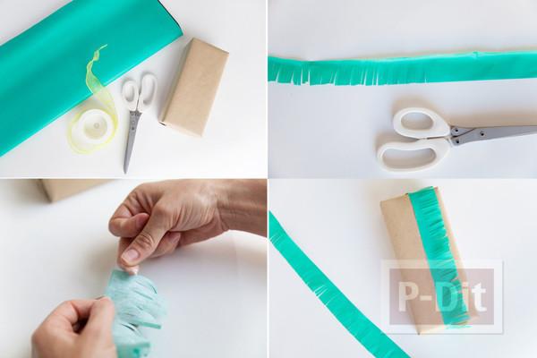 รูป 3 ห่อกล่องของขวัญสวยๆ ด้วยกระดาษสีสดใส