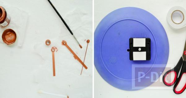 รูป 4 นาฬิกาติดผนังบ้าน ทำจากเก่าๆ ประดับปอมๆ