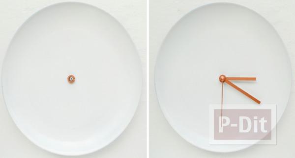 รูป 5 นาฬิกาติดผนังบ้าน ทำจากเก่าๆ ประดับปอมๆ