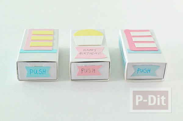 รูป 4 กล่องไม้ขีดไฟ ตกแต่งลายสวย ใส่เทียนวันเกิด