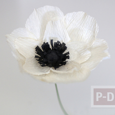 ดอกไม้ประดิษฐ์ ทำจากกระดาษย่น