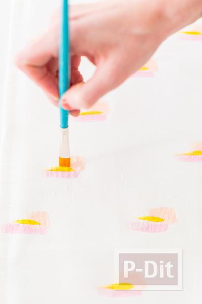 รูป 5 สอนทำหมอนอิงสวยๆ ระบายสี ด้วยสีน้ำ