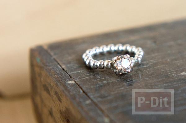 สอนทำแหวนสวยๆ จากเม็ดพลาสติก