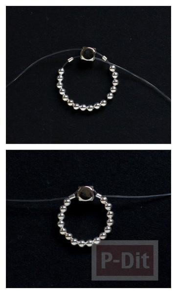 รูป 4 สอนทำแหวนสวยๆ จากเม็ดพลาสติก