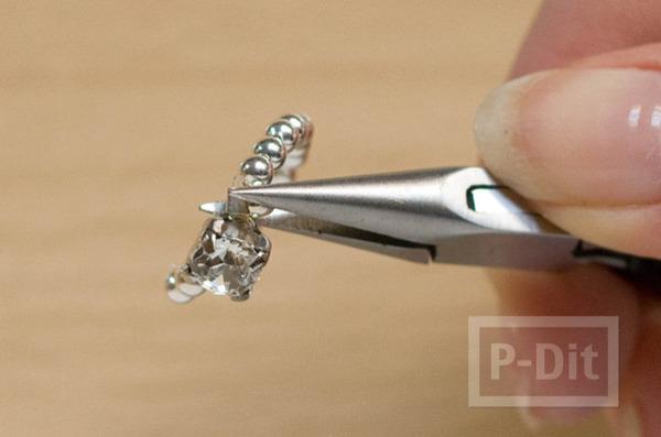 รูป 6 สอนทำแหวนสวยๆ จากเม็ดพลาสติก