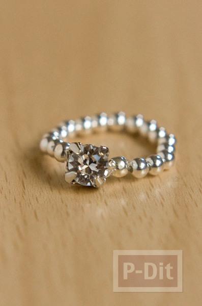 รูป 7 สอนทำแหวนสวยๆ จากเม็ดพลาสติก