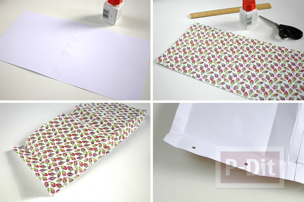 รูป 4 ถุงของขวัญ ทำจากกระดาษ ลายสวย