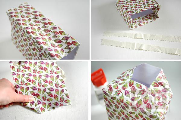 รูป 5 ถุงของขวัญ ทำจากกระดาษ ลายสวย