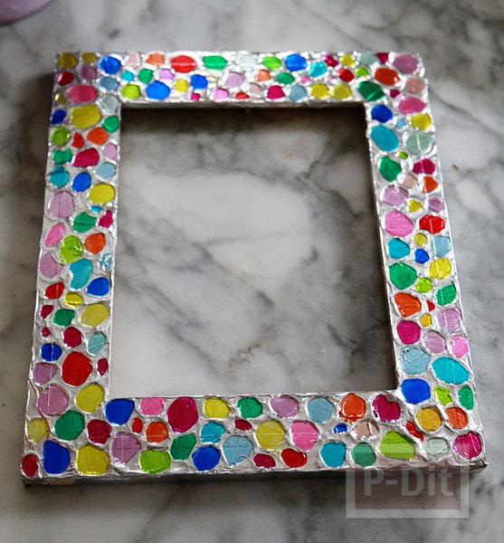 กรอบรูปสวยๆ ตกแต่งกระดาษฟอยล์ ระบายด้วยสีเมจิก
