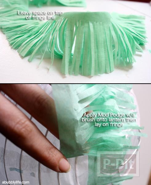 รูป 4 โคมไฟกระดาษ ประดับกระดาษย่น สวยๆ