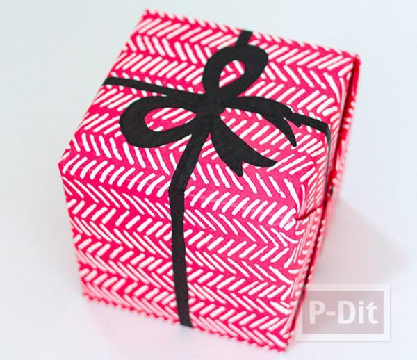 กล่องของขวัญ วาดโบว์ประดับ ด้วยสีเมจิก