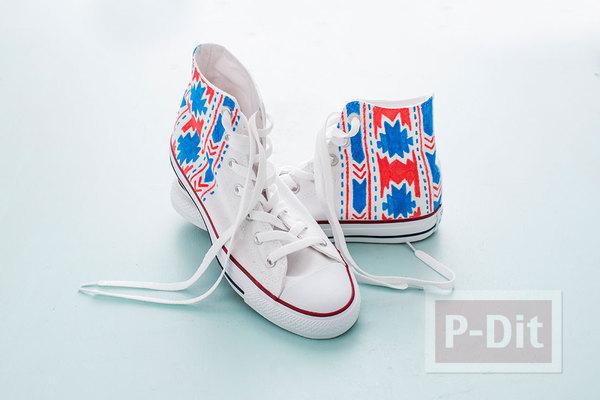รูป 6 ระบายสี ตกแต่งรองเท้าผ้าใบ คู่สวย