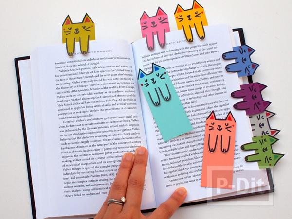 ทำที่คั่นหนังสือ ลายแมว น่ารัก