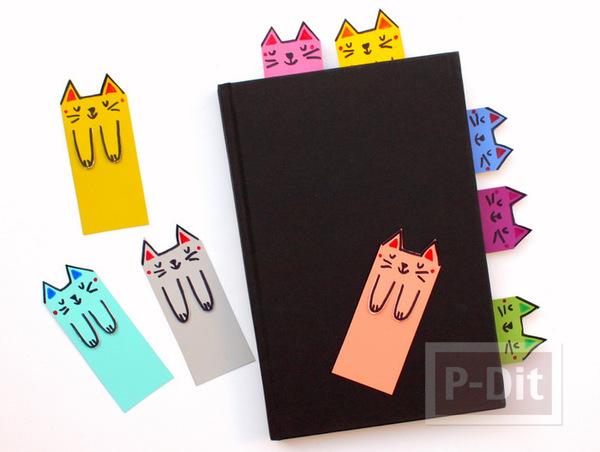 รูป 7 ทำที่คั่นหนังสือ ลายแมว น่ารัก