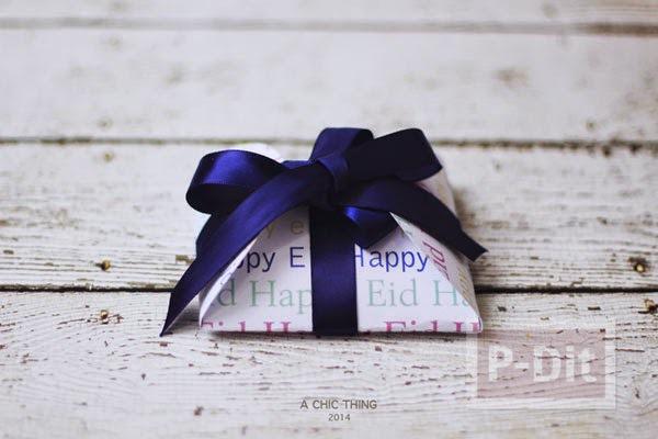 รูป 1 ห่อกล่องของขวัญสวยๆ ทำจากกระดาษวงกลม