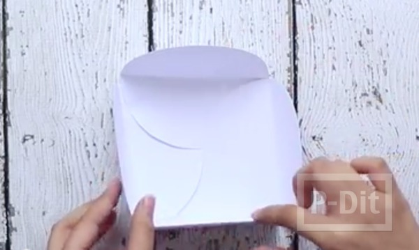 รูป 5 ห่อกล่องของขวัญสวยๆ ทำจากกระดาษวงกลม