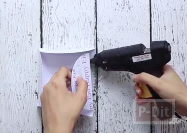 รูป 6 ห่อกล่องของขวัญสวยๆ ทำจากกระดาษวงกลม