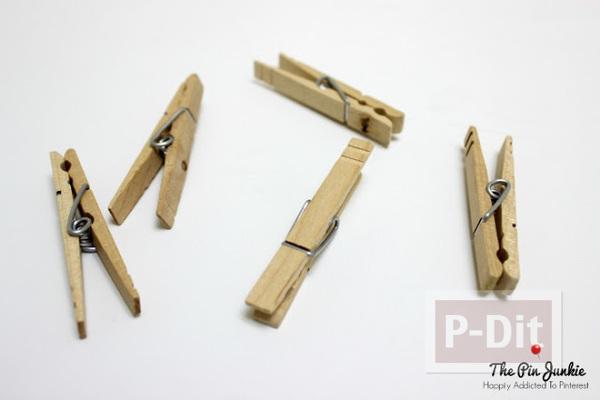 รูป 2 สอนทำที่เก็บหูฟัง จากไม้หนีบผ้าแบบไม้