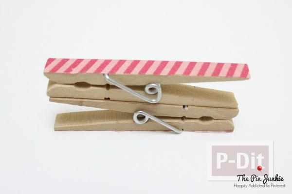 รูป 5 สอนทำที่เก็บหูฟัง จากไม้หนีบผ้าแบบไม้