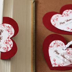 ที่คั่นหนังสือ รูปหัวใจ สีสวย
