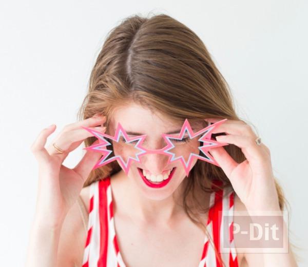 แว่นตาดาวกระจาย ทำจากกระดาษสีสวย