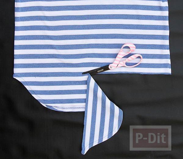 รูป 4 ถุงใส่ผลไม้ ทำจากเสื้อยืด